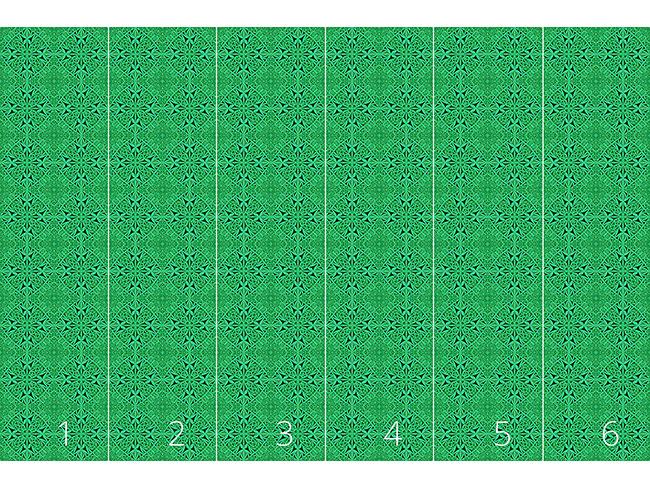 Designtapete Smaragd Kaleidoskop