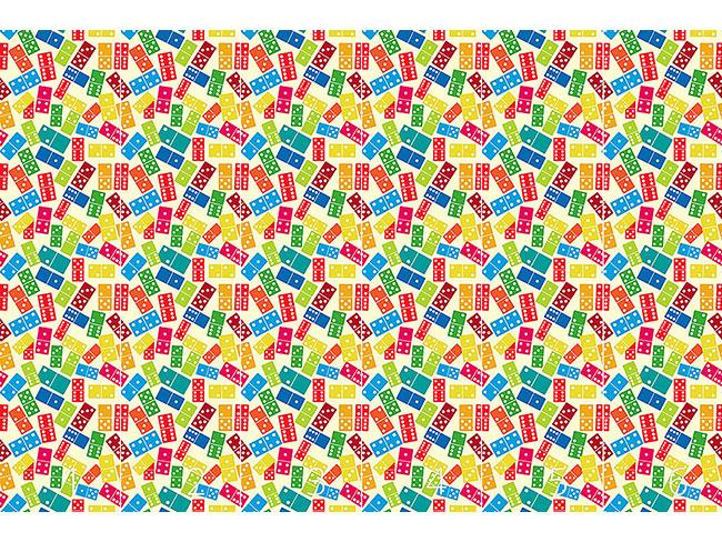 Designtapete Wir Spielen Domino
