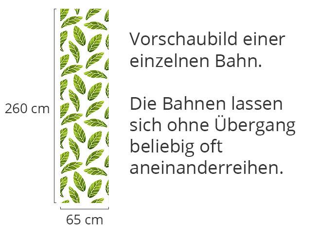 Designtapete Aquarell Blätter