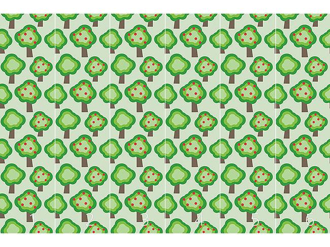 Designtapete Apfelbäume