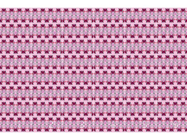 Designtapete Blüten Streifen