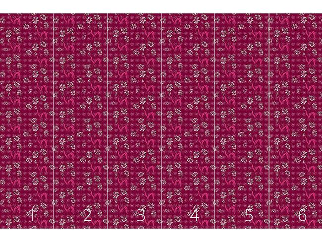 Designtapete Gänseblümchen Purpur