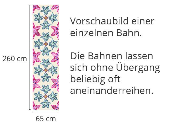 Designtapete Symmetrie Und Blumen