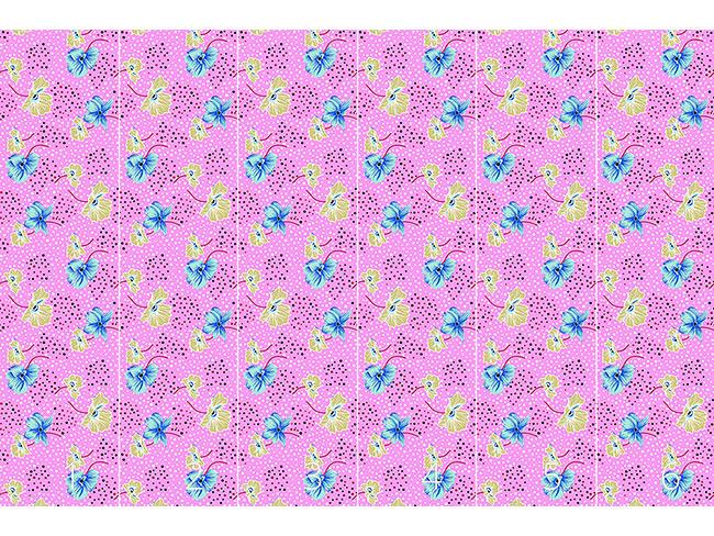 Designtapete Blüten Und Punkte