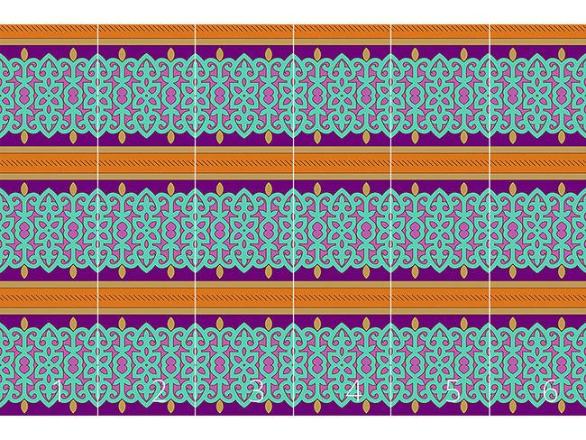 Designtapete Orientalische Bordüre