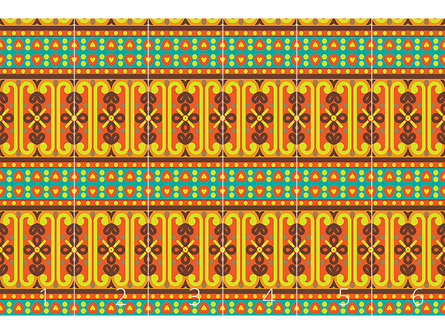 Designtapete Orientalische Ethno Bordüre
