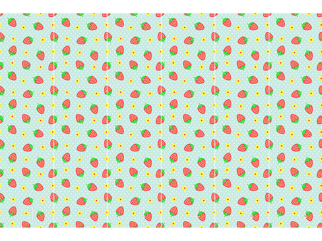Designtapete Erdbeer Eisbecher