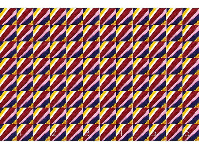 Designtapete Streifen zum Quadrat