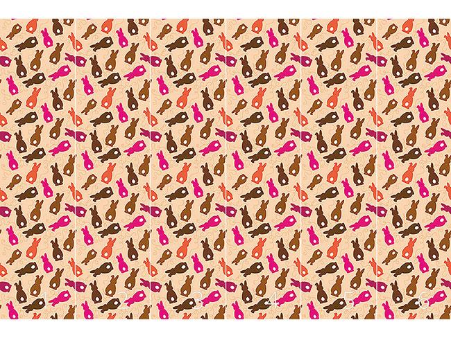 Designtapete Häschen Hüpf Pink