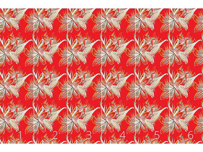 Designtapete Feuerlilie