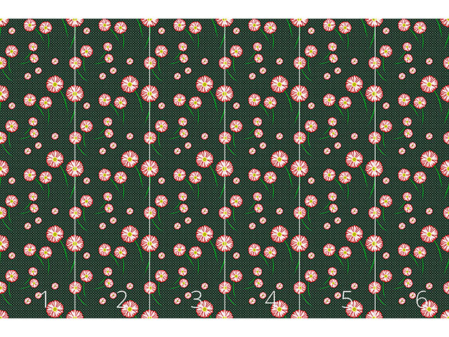 Designtapete Gerbera Blüten