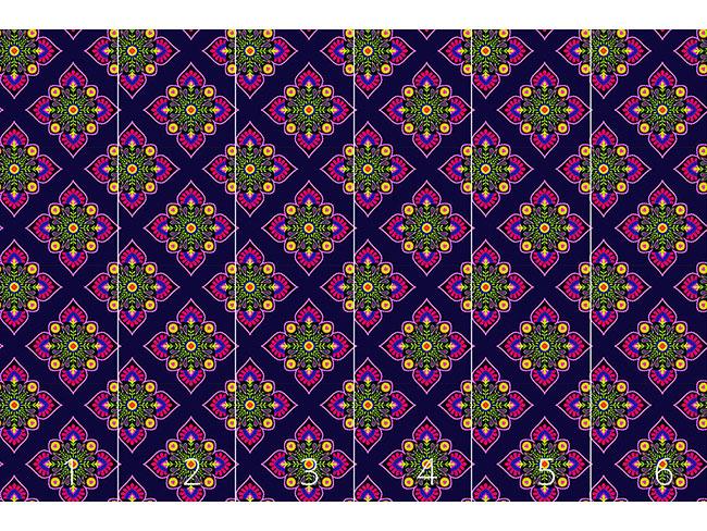 Designtapete Folklore Zum Quadrat