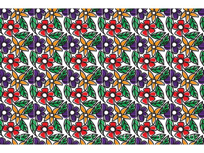 Designtapete Blumen Gekritzel