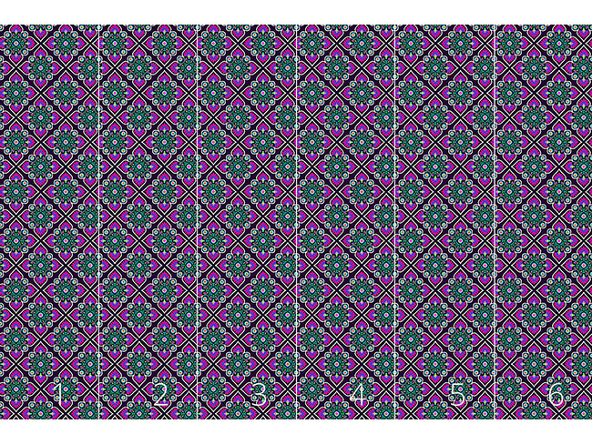 Designtapete Folklore Blumen Zum Quadrat