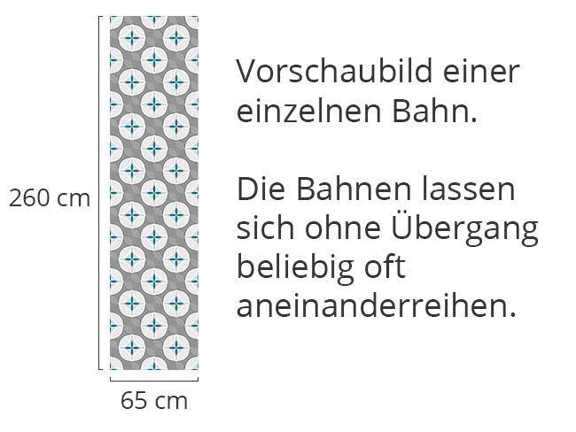 Designtapete Blumen Welle