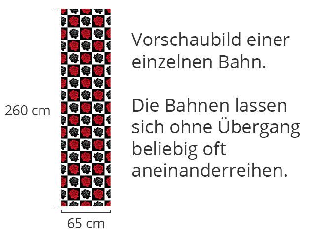 Designtapete Rosen Schachbrett