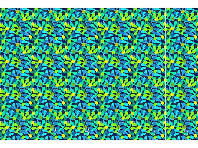 Designtapete Unterwasser Blüte