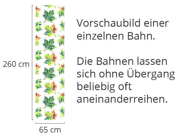 Designtapete Verändernde Blätter
