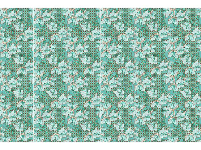 Designtapete Orientalische Blüten