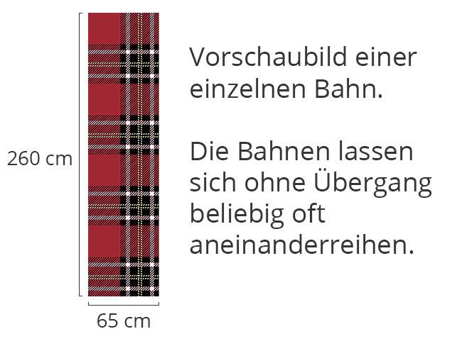 Designtapete Schottischer Tartan