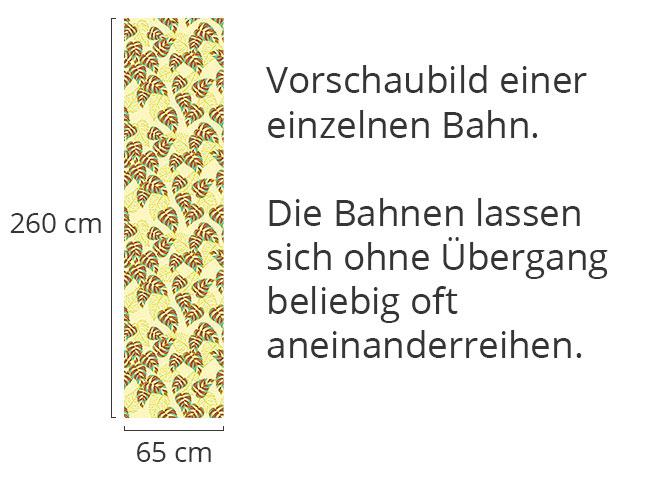 Designtapete Birkenblatt Gelb