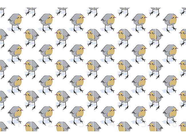 Designtapete Birdie Seitenblicke