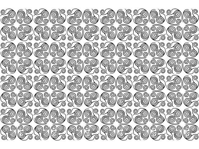 Designtapete Jorinde Spiralen Schwarz Weiss