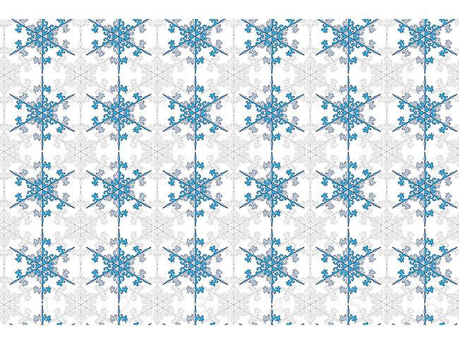 Designtapete Schneeflocken Schönheit