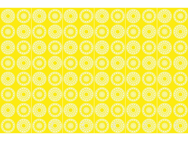 Designtapete Mandala Sonnen
