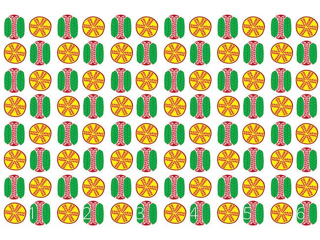 Designtapete Granatapfel Querschnitt