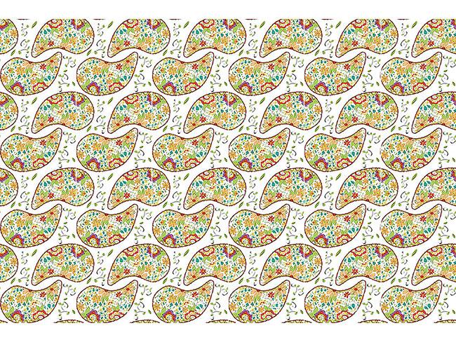 Designtapete Doodle Paisley