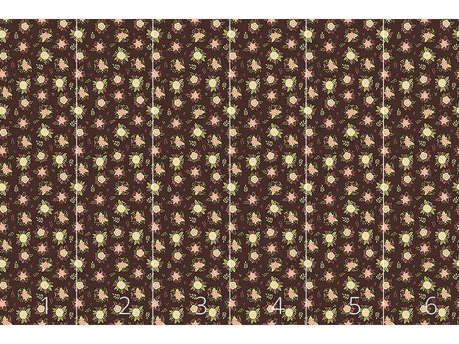 Designtapete Zarte Blumensträusse