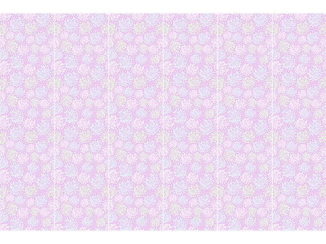 Designtapete Chrysanthemen Feuerwerk