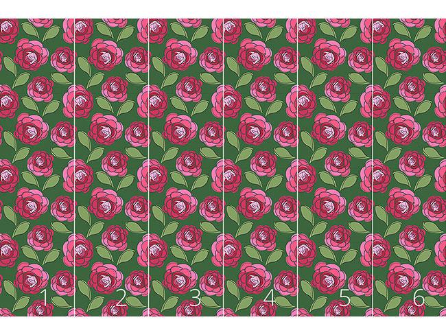 Designtapete Kamelien Blüten