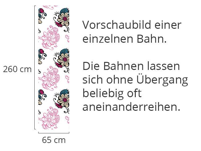 Designtapete Blumenzauber Doodle