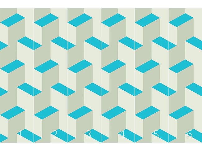 Designtapete Isometrische Stufen 3D