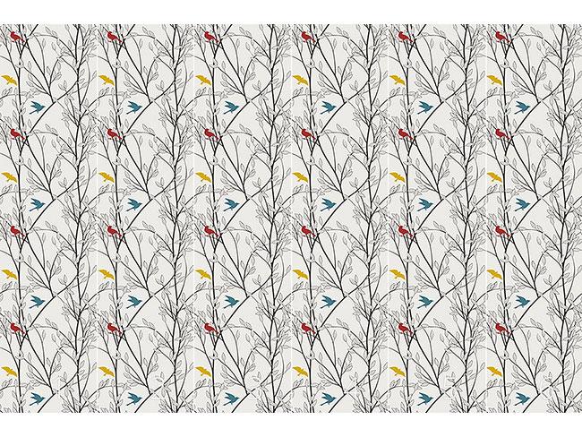 Designtapete Die Vögel Des Waldes