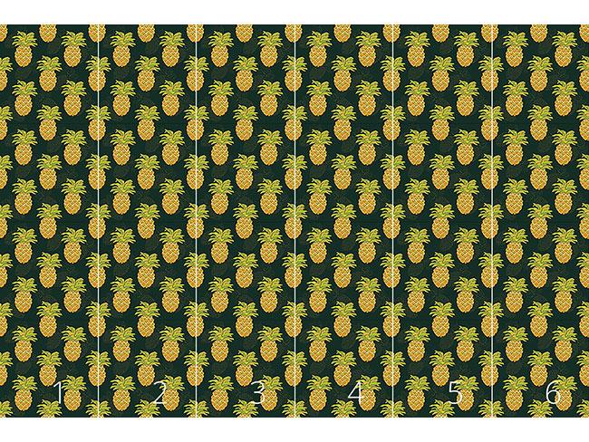 Designtapete Reife Ananas