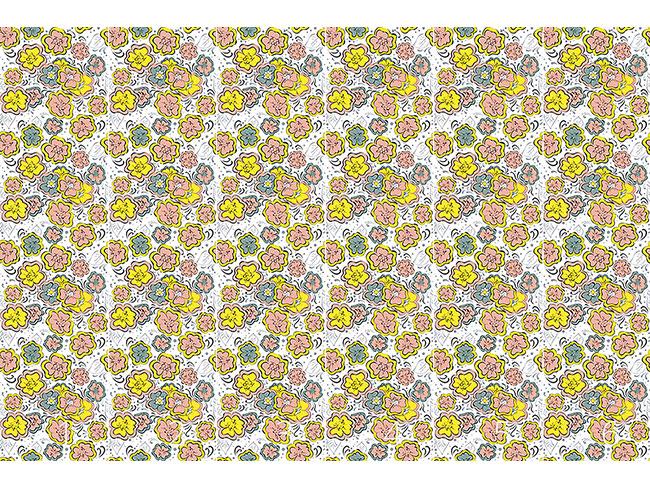 Designtapete Expressive Blumen