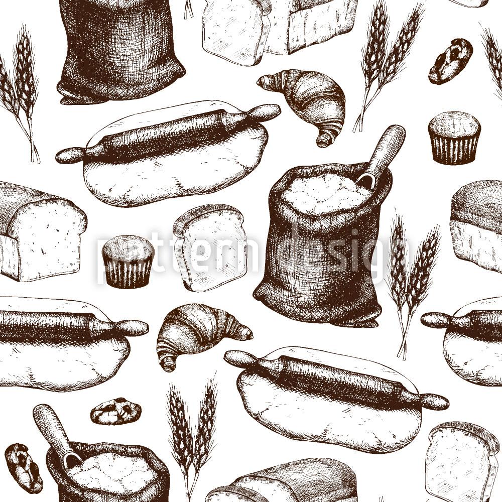 Designtapete Bäckerei Utensilien