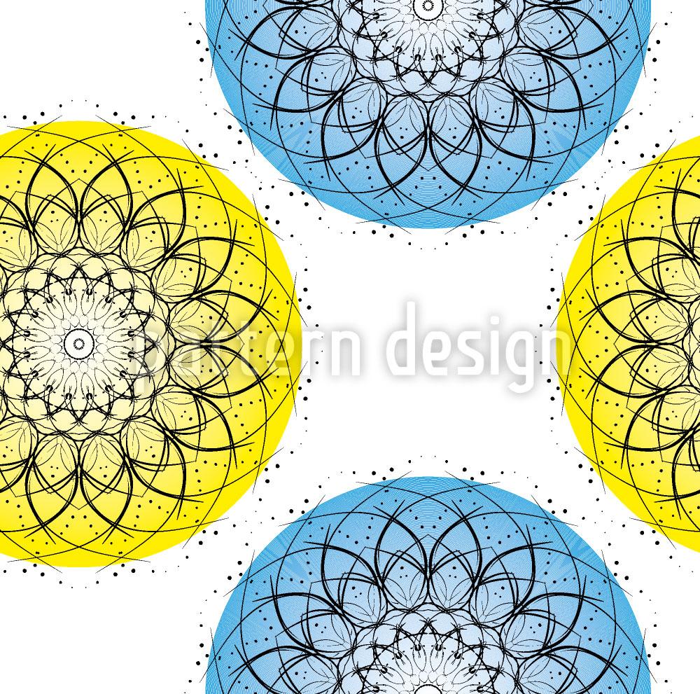 Designtapete Atom Illusion