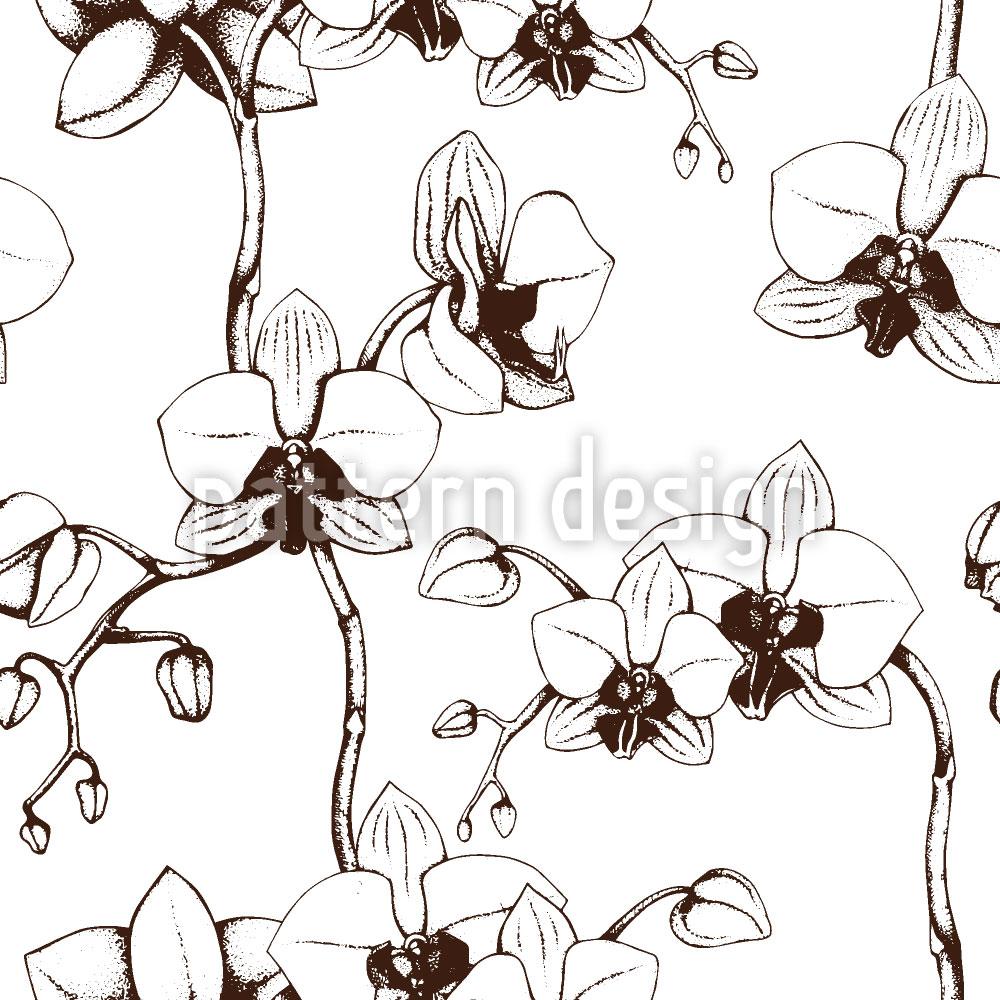 Designtapete Orchideen Blüte