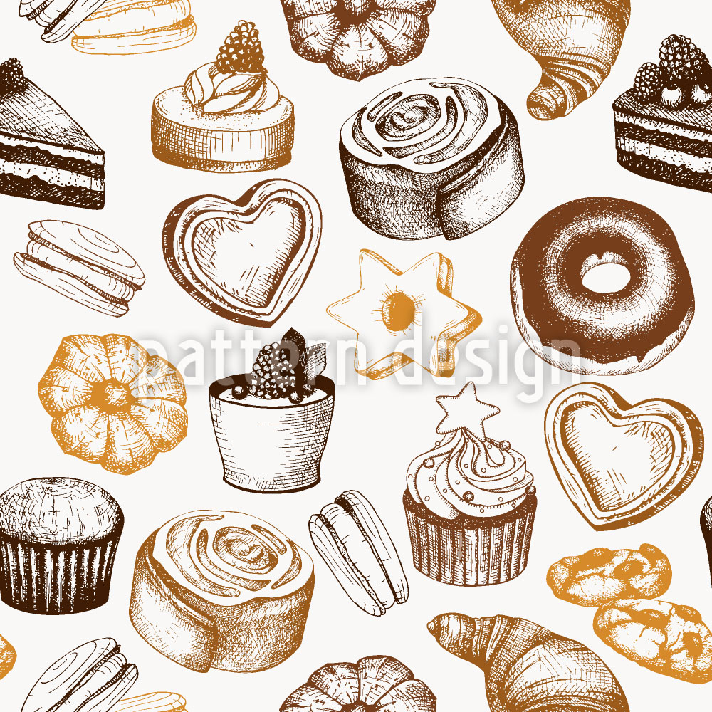 Designtapete Süsse Bäckerei
