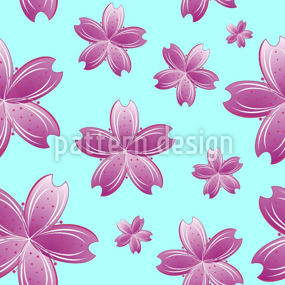 Designtapete Blumen Im Wasser