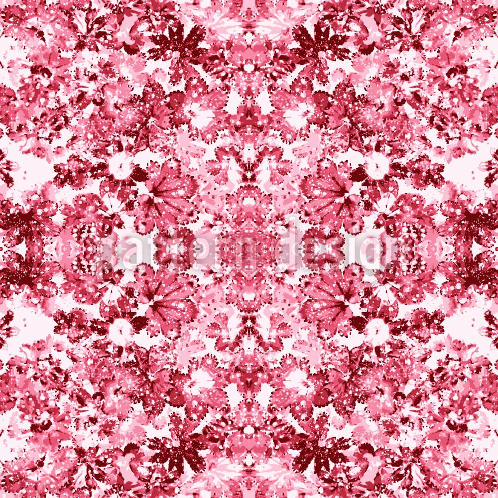 Designtapete Rosen Kaleidoskop