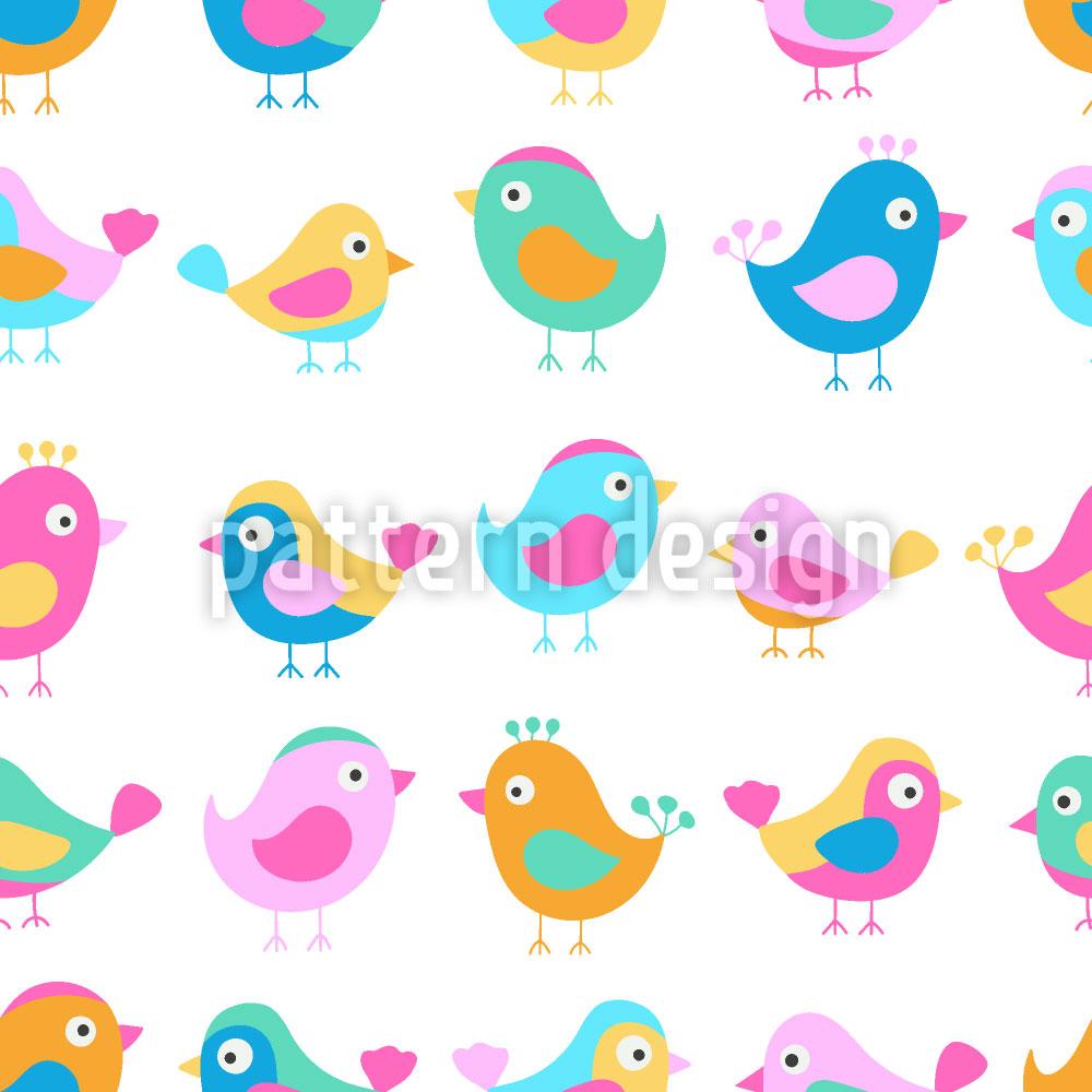 Designtapete Vögel In Der Krabbelstube