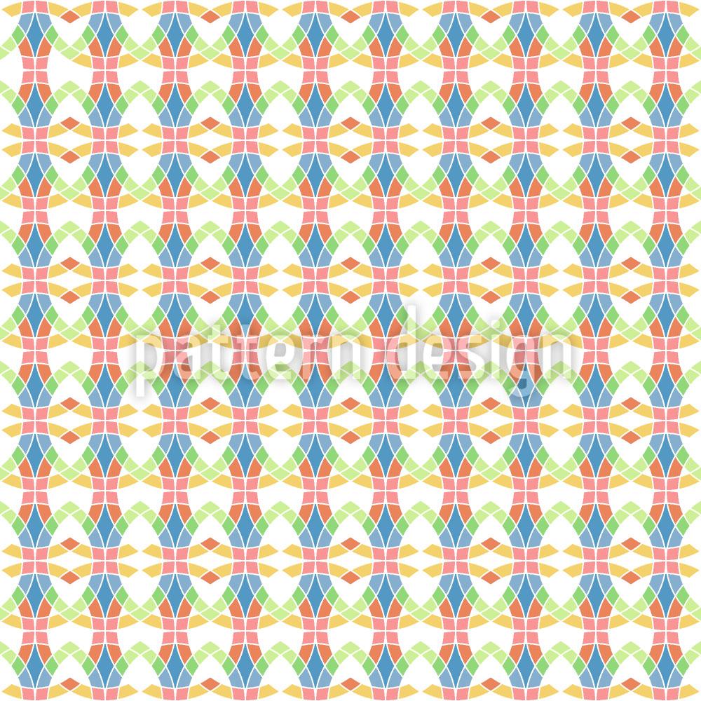 Designtapete Maschen Mosaik