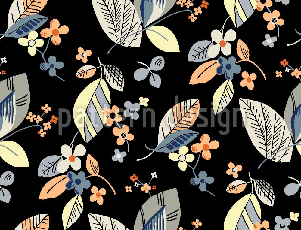 Designtapete Vintage Floral