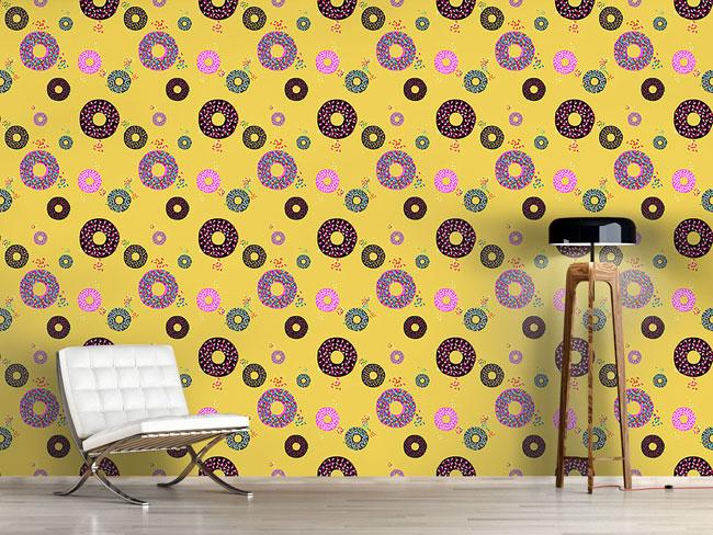Designtapete Donuts