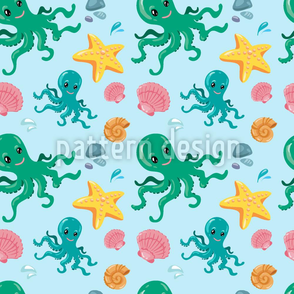 Designtapete Oktopus Und Freunde